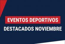 eventos deportivos destacados noviembre